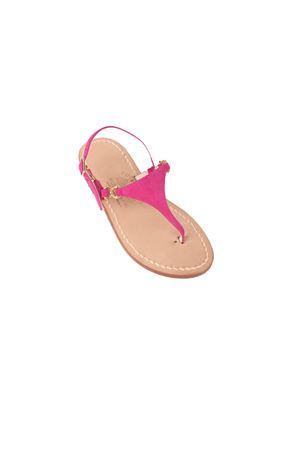 Pink handmade sandals for babygirl Cuccurullo | 5032256 | TRIANGOLO CAPRESE BABYROSA
