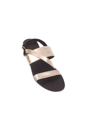 Double stripe platinum Capri sandals Da Costanzo | 5032256 | 2528/CORO