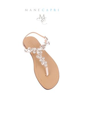 Capri bridal jewel sandals Da Costanzo | 5032256 | CRY SPOSA BIANCOBIANCO