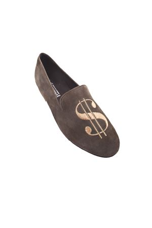 Green loafers with dollar symbol Da Costanzo | 12 | DOLLARVERDE