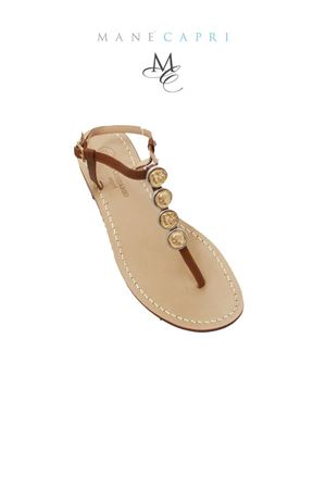 Capri Sandals with coins Da Costanzo | 5032256 | FILO MONETEMARRONE