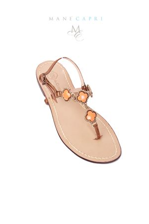 Bronze and orange jewel sandals Da Costanzo | 5032256 | M/61535ARANCIO