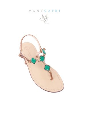 Emerald green Capri jewel sandals Da Costanzo | 5032256 | M/61535VERDE
