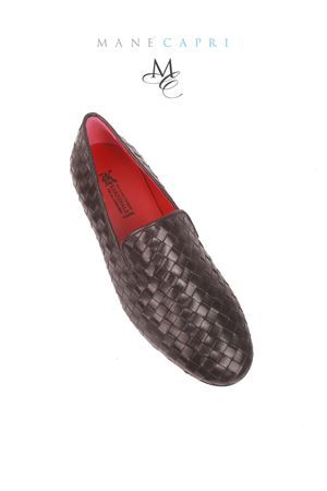 Black loafers with woven leather Da Costanzo | 12 | MOC UOMONERO