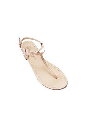 Gold handmade sandals Da Costanzo | 5032256 | S1918ROSA LAMINATO