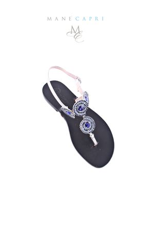 Handmade Capri jewel sandals Da Costanzo | 5032256 | S2315BLU