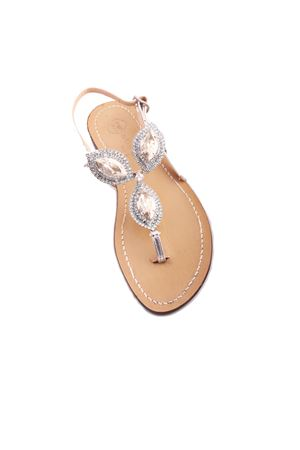 Da Costanzo Capri bridal jewel sandals Da Costanzo | 5032256 | S3326SILVERSILVER