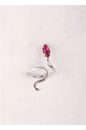 Anello in ottone artigianale a forma di serpente Da Costanzo | 5032250 | SNAKE RING SILVERVIOLA
