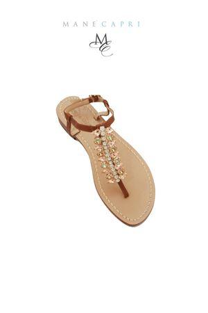 Handmade Capri jewel sandals Da Costanzo   5032256   SPINAMARRONE