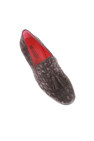 Grey velvet loafers Da Costanzo | 12 | VELVET UOMOGRIGIO