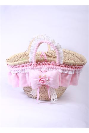 Handmade straw bag for babygirl La Bottega delle Idee | 31 | BORSA BABYROSA