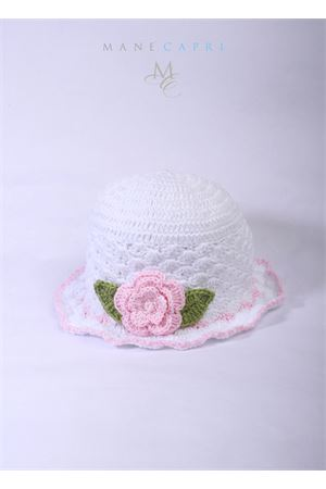 Baby embroidered hat Capridea | 26 | C116ABIANCO/ROSA