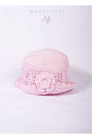 Baby embroidered hat La Bottega delle Idee | 26 | C116BROSA
