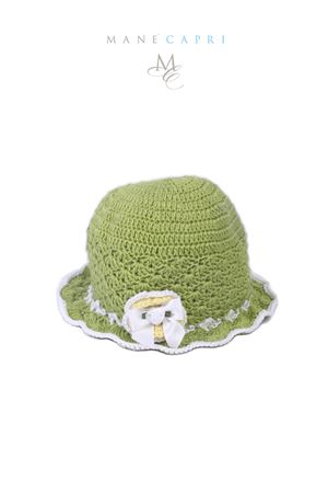 Baby embroidered hat Capridea | 26 | C166AVERDE/BIANCO