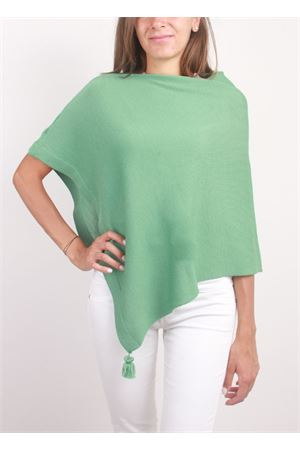 Poncho da donna artigianale in lana verde La Bottega delle Idee | 52 | PBWOOLP84