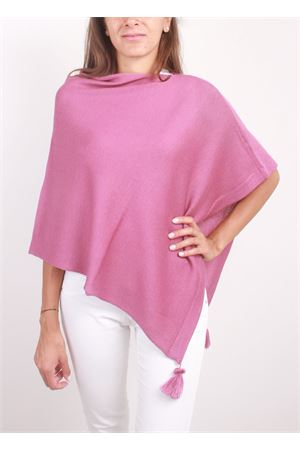 Poncho da donna artigianale in lana rosa La Bottega delle Idee | 52 | PBWOOLV126