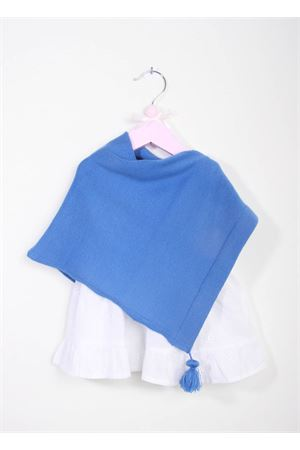 Handmade light blue wool baby girl mantel La Bottega delle Idee | 52 | PONCHOBGA8