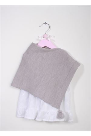 Poncho caprese da bambina in lana merino grigia La Bottega delle Idee | 52 | PONCHOBGB21