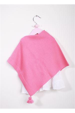 Poncho rosa  da bambina in lana merino La Bottega delle Idee | 52 | PONCHOBGS104