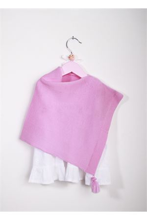 Pink mantel in pure wool for baby girl  La Bottega delle Idee | 52 | PONCHOGRC34