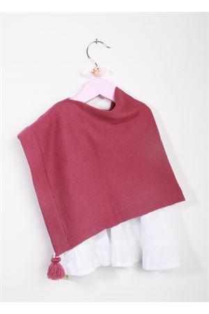 Poncho artigianale da bambina in calda lana merino La Bottega delle Idee | 52 | PONCHOGRV126