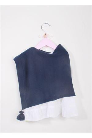 Poncho in lana merino blu per neonata La Bottega delle Idee | 52 | PONCHONBA6