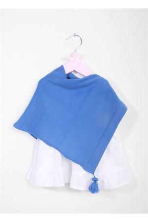 Poncho per neonata artigianale in lana merino color celeste La Bottega delle Idee | 52 | PONCHONBA8