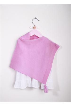Ponchoin lana rosa per neonata La Bottega delle Idee | 52 | PONCHONBC34
