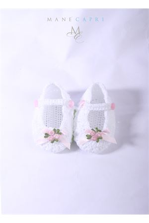 Scarpe modello ballerina da bambina La Bottega delle Idee | 12 | S38BIANCA/FIOCCO ROSA