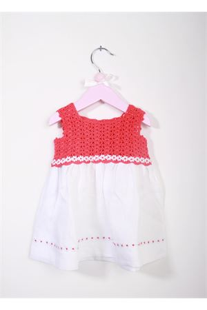 Baby embroidered dress La Bottega delle Idee | 5032262 | V120BIANCO/CORALLO