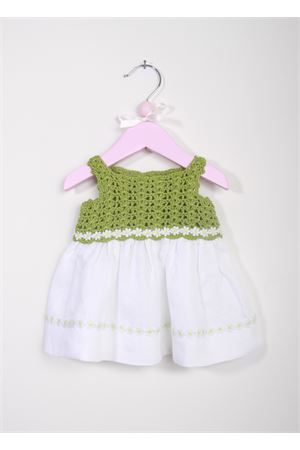 Baby handmade embroidered dress La Bottega delle Idee | 5032262 | V166BIANCO/ALGA