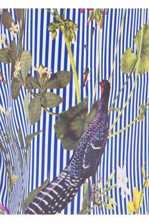 Lungo abito in seta con fantasia Tropicale Laboratorio Capri | 5032262 | ABITO LUNGO TROPICAPRIBLU