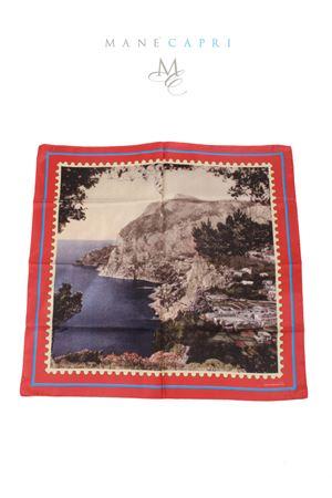 Foulard in pura seta francobollo Marina Piccola di Capri Laboratorio Capri | -709280361 | MARINA PICCOLAROSSO