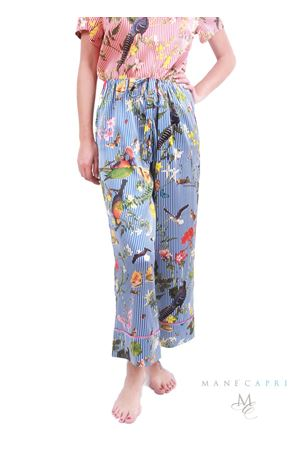 Tropical pattern silk pants  Laboratorio Capri | 9 | PANTALARGO TROPICAPRIBLU