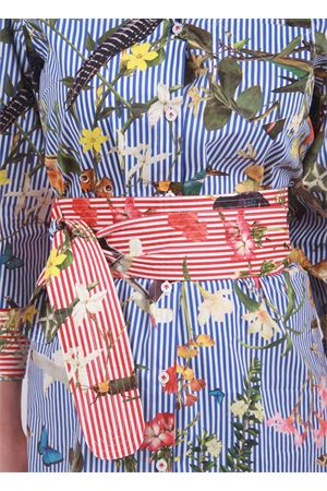 Obi belt with tropical pattern  Laboratorio Capri | 22 | TROPICAPRI OBI BELTRIGHE R/B
