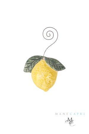 Ceramic Capri lemon magnet  Manè Capri | 20000005 | LIMONE FOTOGIALLO