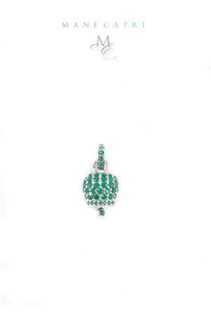 Campanella di Capri in argento e zirconi verdi Manè Capri | 20000055 | MANEBELL2VERDE