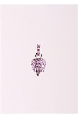 Ciondolo Campanella di Capri in argento con zirconi viola Manè Capri | 20000055 | MANEBELL2VIOLA
