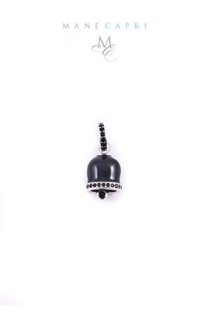 Campanella di Capri in argento smaltato nero con zirconi Manè Capri | 5032249 | MANEBELLSMNERO