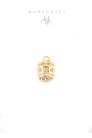 Capri bell charm with hearts and white zircons Manè Capri | 5032249 | MANEHEARTORO