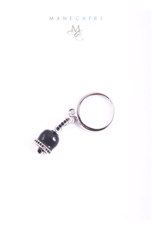 Adjustable silver ring with black Capri bell charm Manè Capri | 5032250 | MANERINGSMNERO