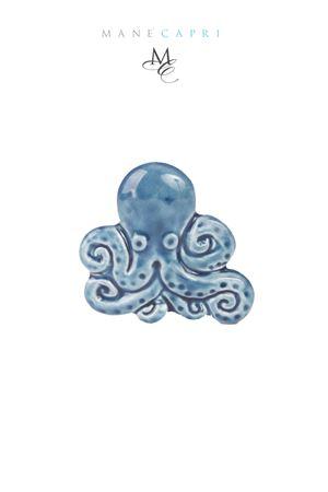 Octopus shaped ceramic tile Manè Capri | 20000004 | POLIPO TILEBLU