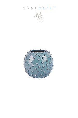 Portacandele in ceramica artigianale a forma di riccio di Capri Manè Capri | 20000025 | RICCIO PIENOBLU