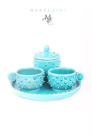 Set da caffè in ceramica a forma di riccio Manè Capri | 20000026 | SET RICCIOTURCHESE