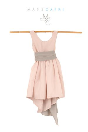 Silk pink dress with grey belt Opililai | 5032262 | OPI94PINK