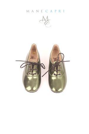Scarpe da bambina in pelle verde Orimusi | 12 | ORI249VERDE