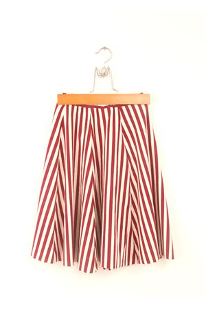 Red and white stripes long skirt Orimusi | 15 | ORI284ROSSO/BIANCO