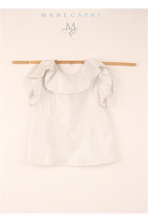 Sleeveless top with trim on the neck  Orimusi | 7 | ORI291GHIACCIO