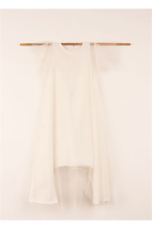 White long jumpsuit with voile application Orimusi | 19 | ORI298BIANCO