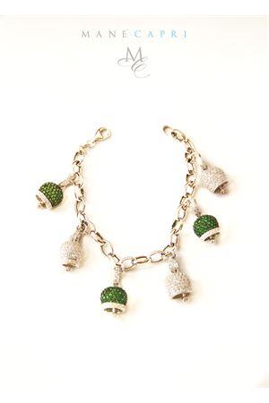 Bracciale con campanelle di Capri con zirconi verdi e bianchi Pierino Jewels | 36 | PIERINO LIMITED EDITIONVERDE